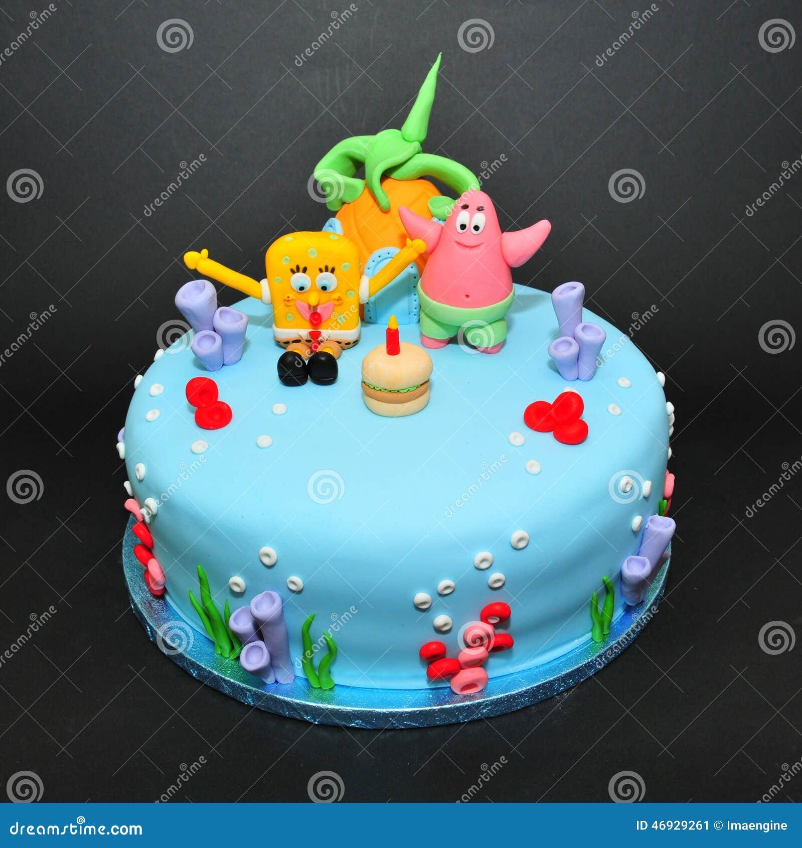 Spongebob Cookie Cake