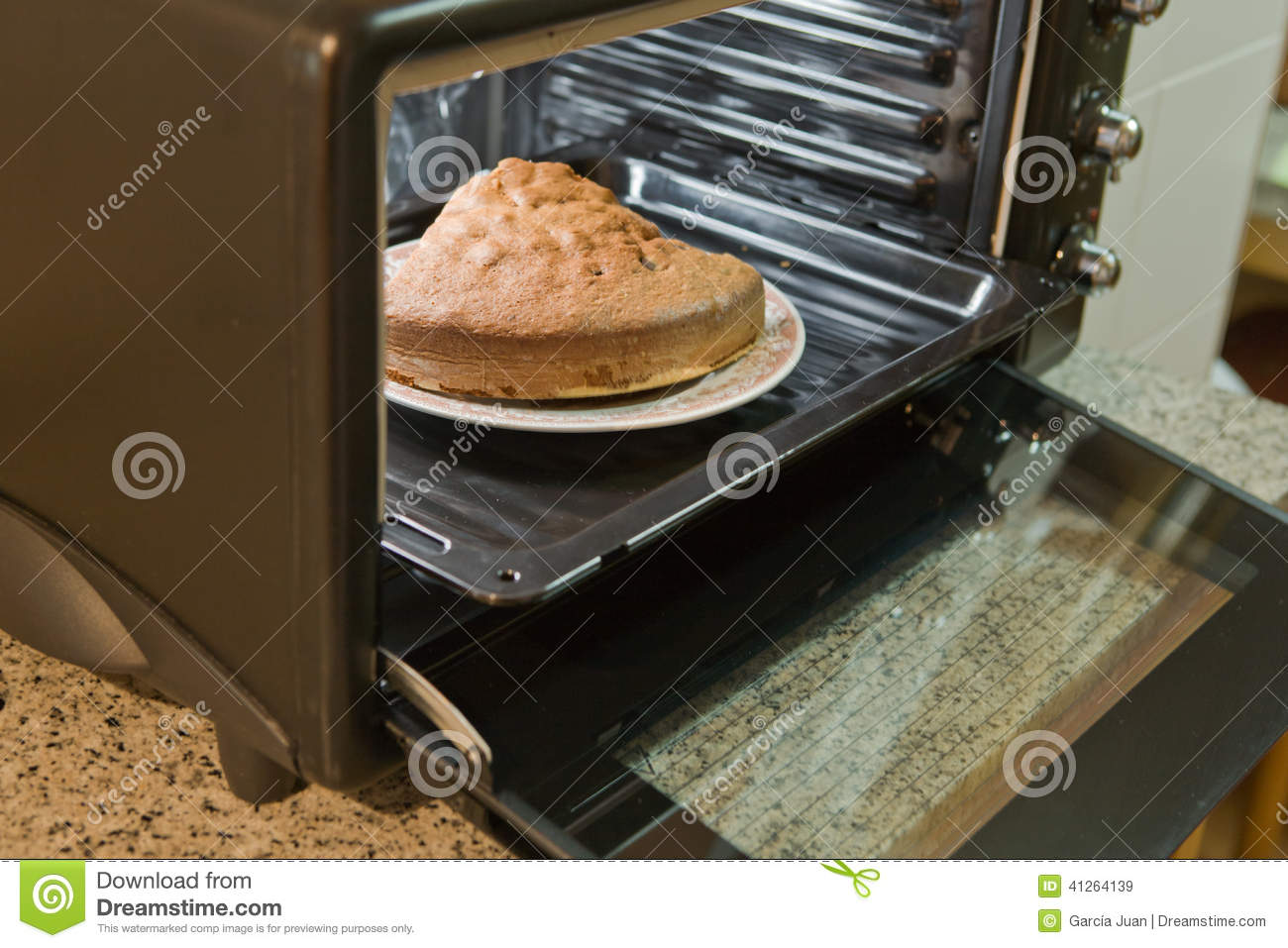 Cake In Oven ~ Sponge cake in the oven stock image of sweet food