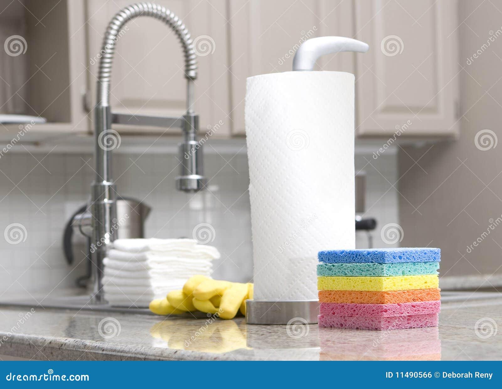 Sponge, paper towels - housework