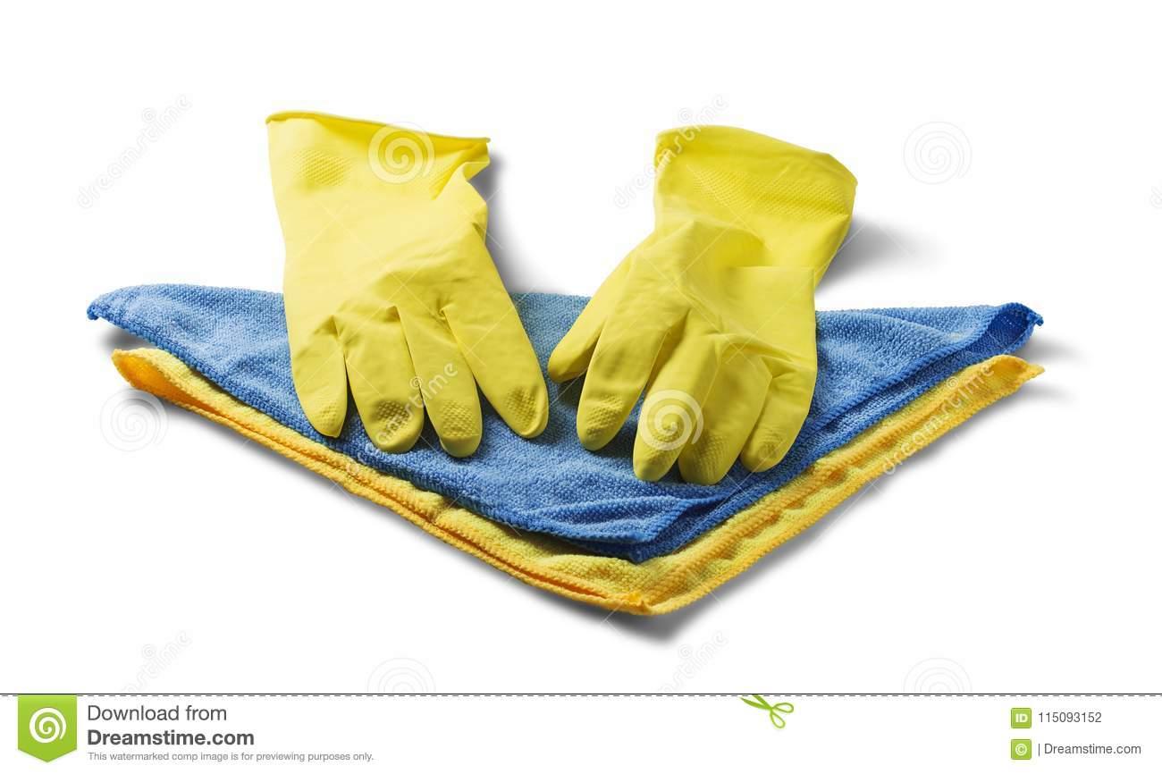 Sponges for cleaning,rag napkin, rubber gloves on white isolated white background. Items for cleaning the house. The idea of hygie
