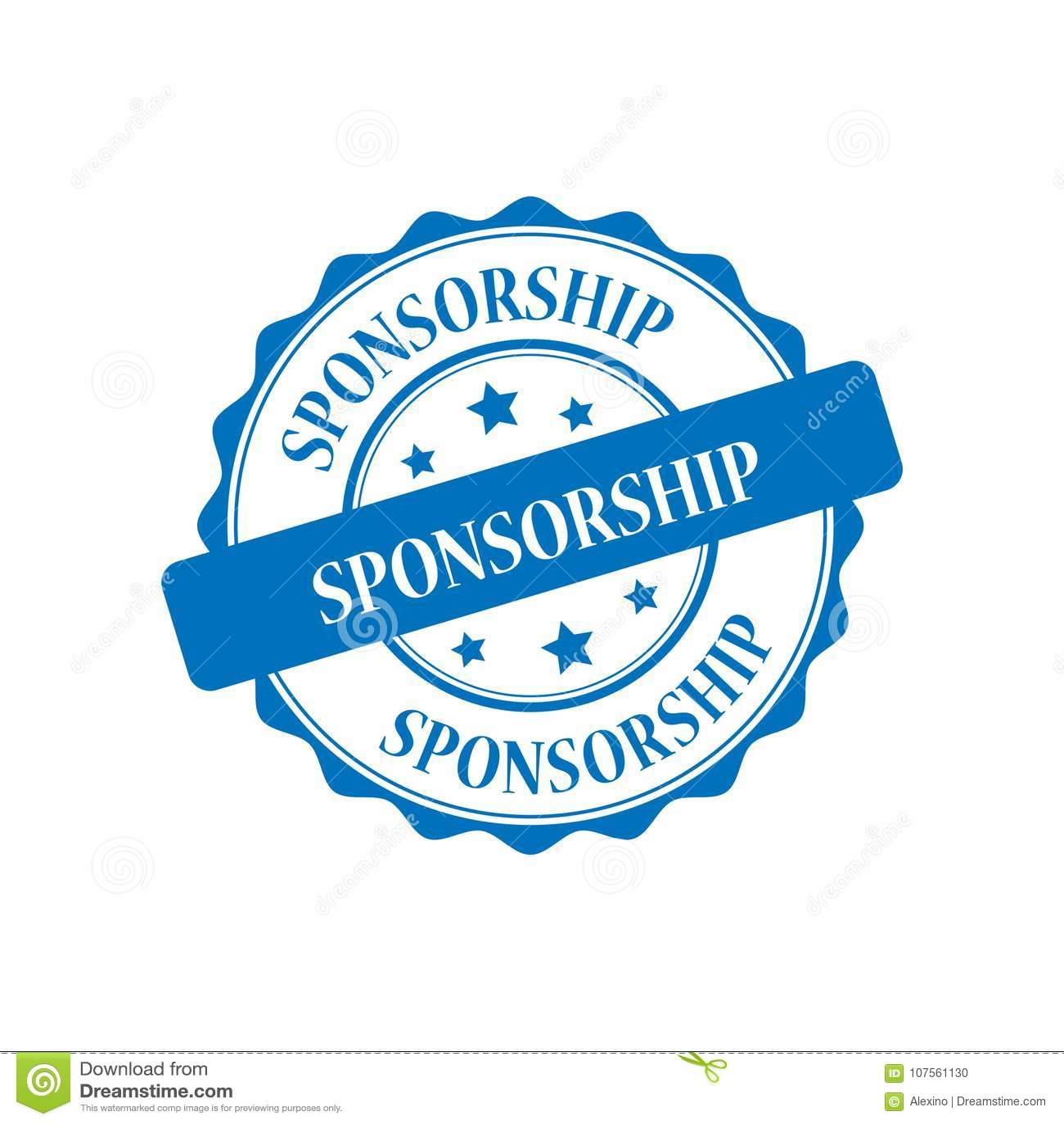 Sponsorship stamp illustration