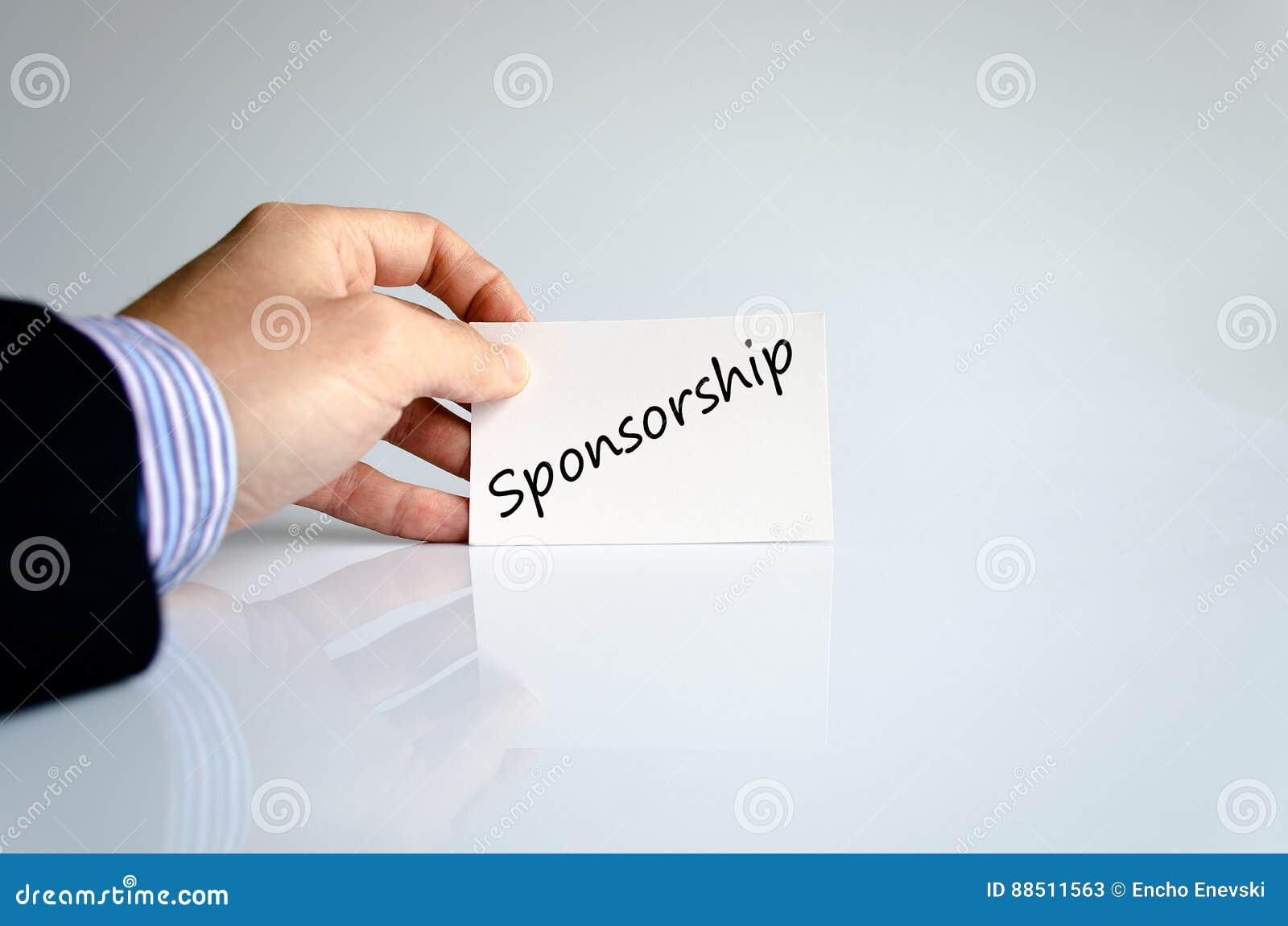 Sponsorship text concept