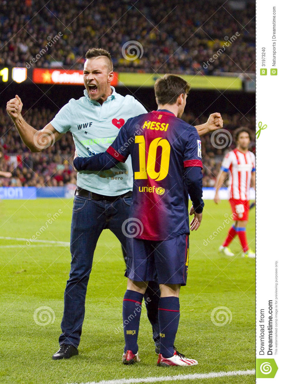 Spontaneous Supporter And Leo Messi Editorial Image Image