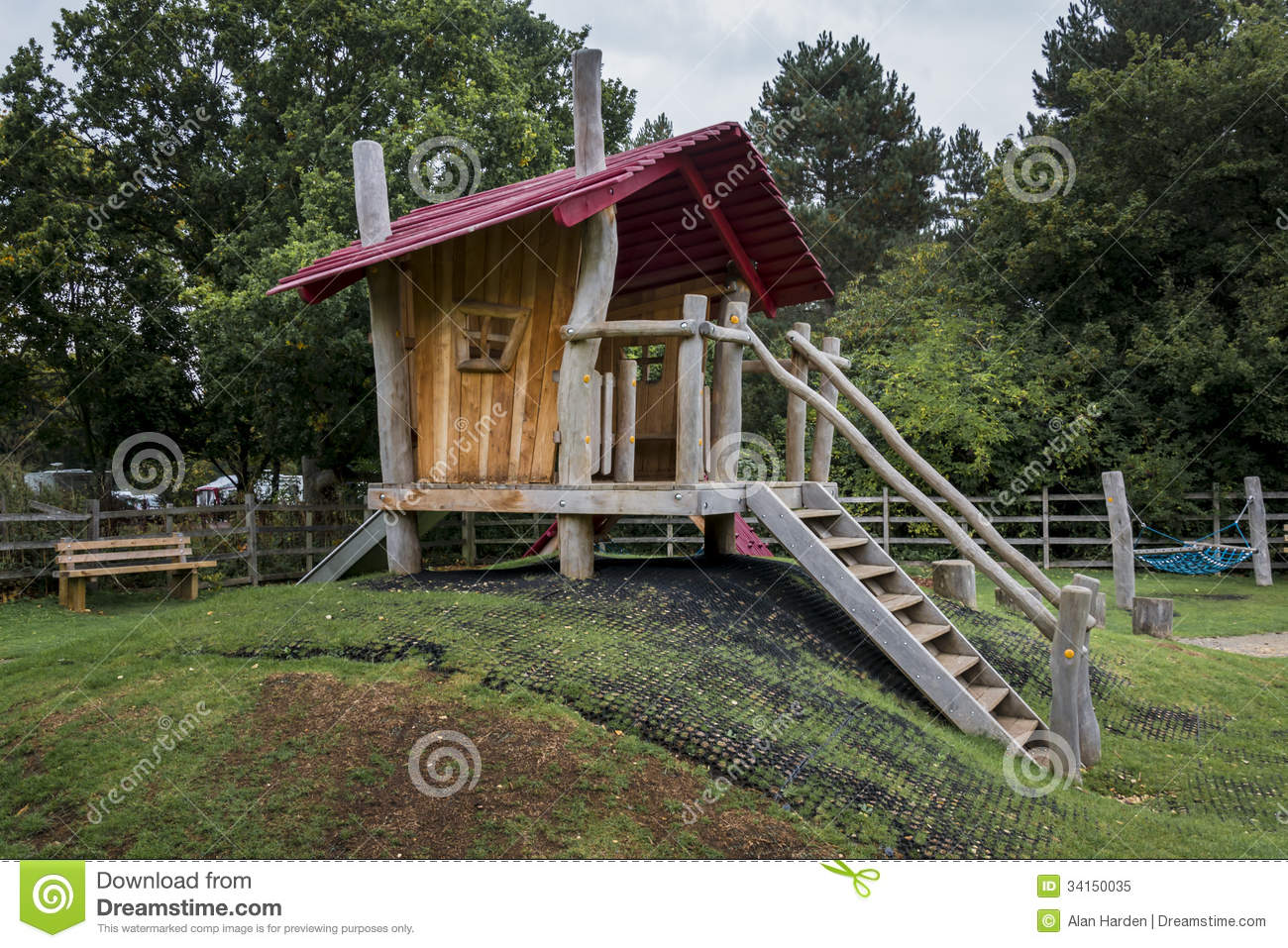... Childrens Wooden Playhouse Royalty Free Stock Photo - Image: 34150035