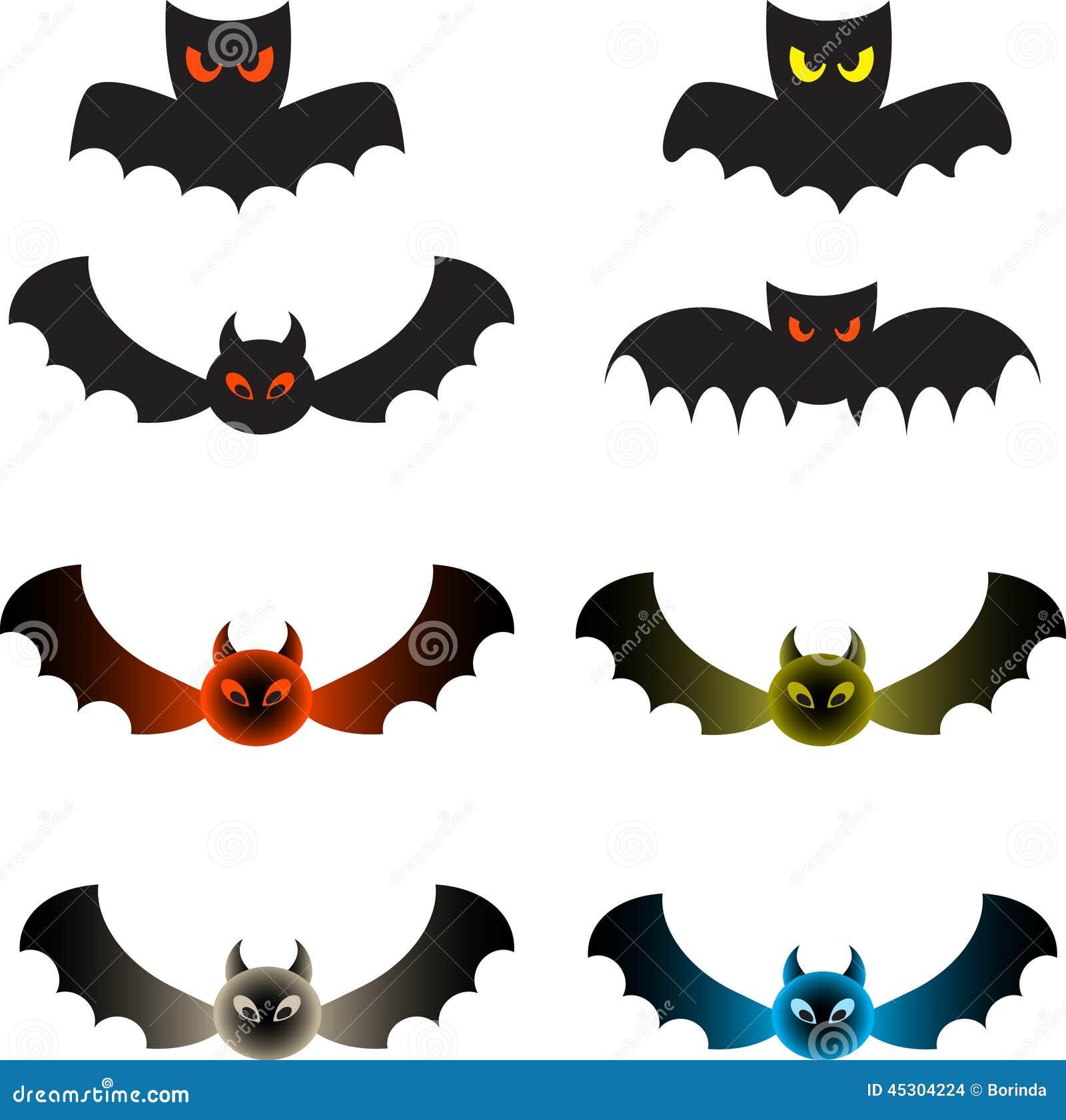 spooky color bats bat illustrations stock illustration