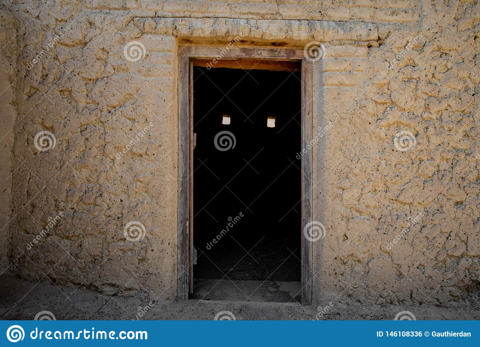 Spooky door in Al Qattara Oasis
