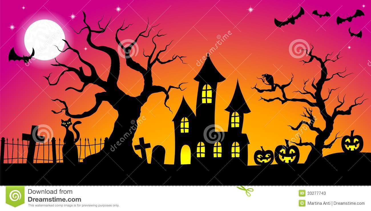Spooky Halloween Background Stock Photos - Image: 33277743