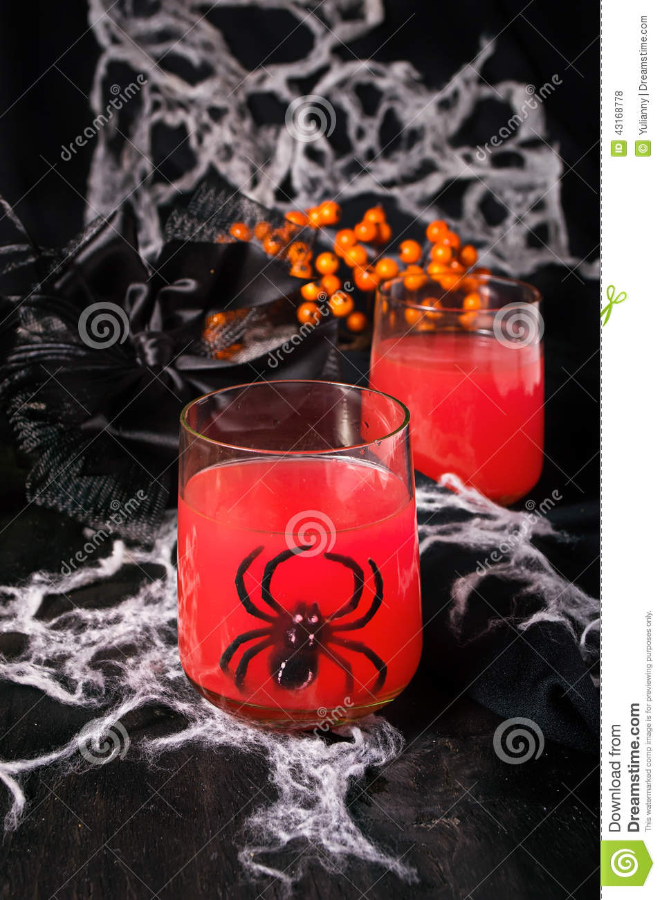 Spooky Halloween Cocktails For Party Royalty Free Stock