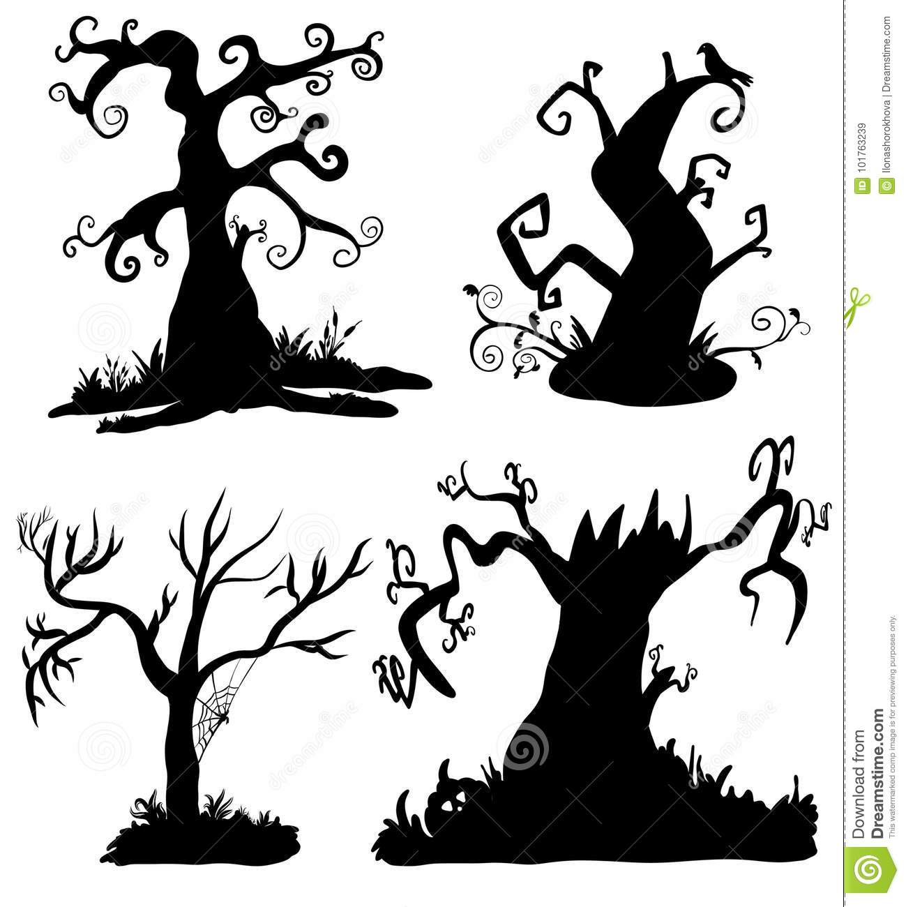 Scary Tree Icon. Isometric Of Scary Tree Vector Icon For Web.. Royalty Free  Cliparts, Vectors, And Stock Illustration. Image 108476153.