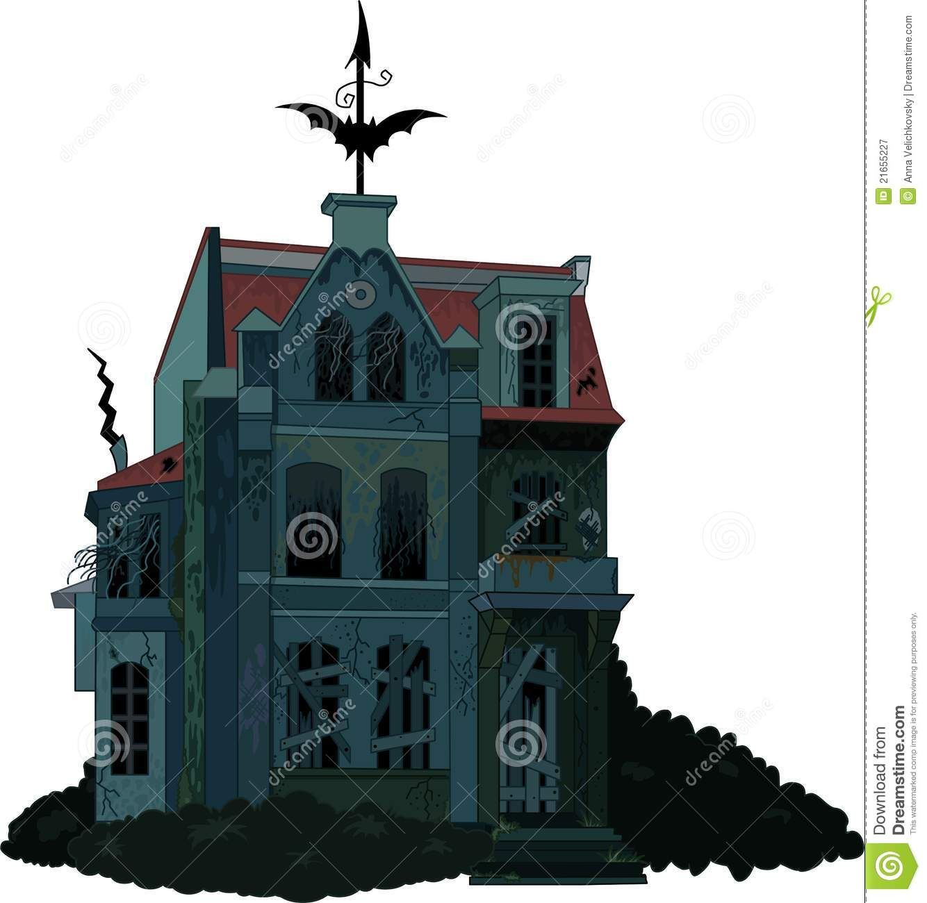 spooky haunted house stock vector illustration of clip 21655227 rh dreamstime com haunted house vector free haunted house victorious fanfic
