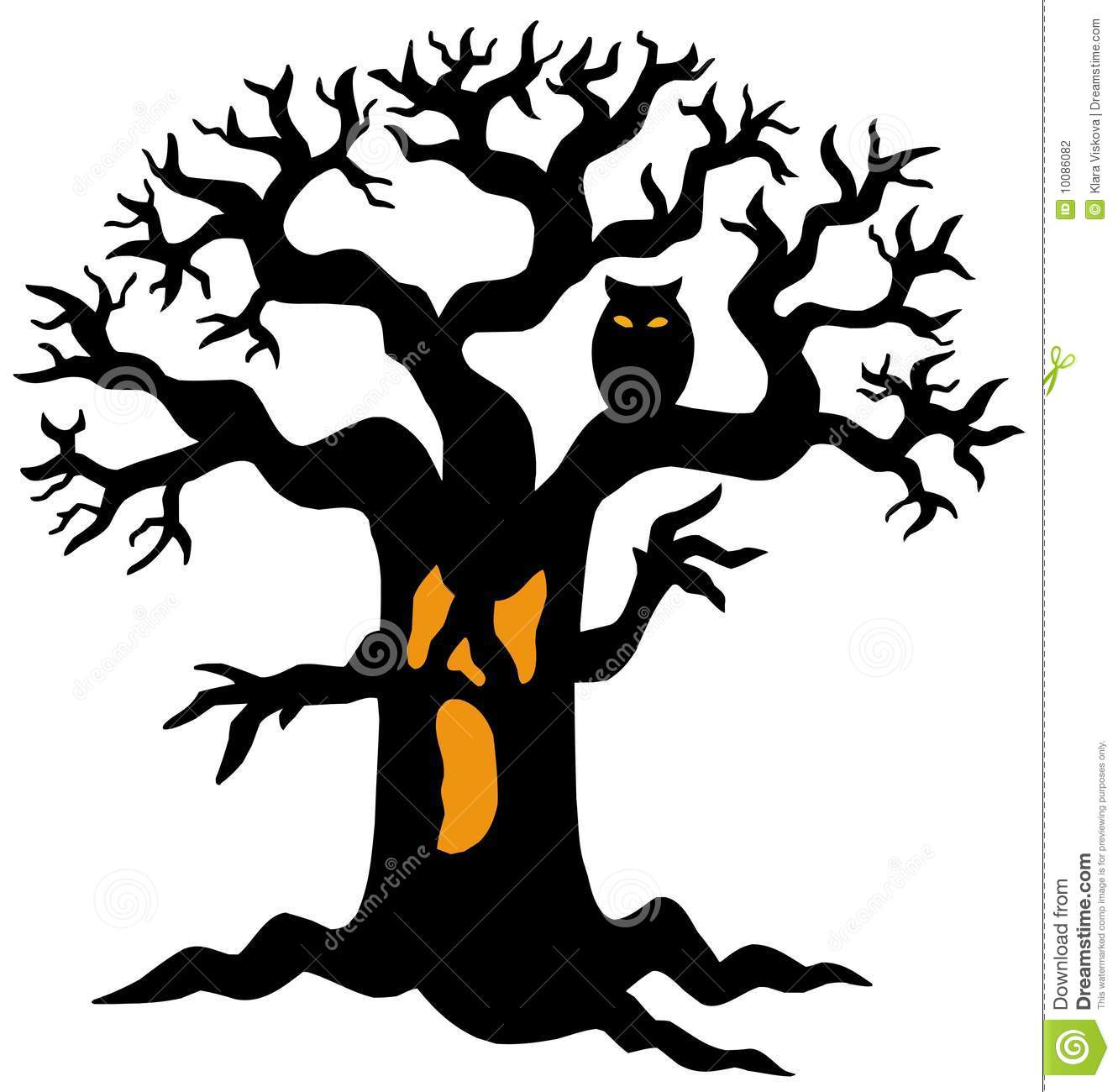 Spooky Tree Silhouette Stock Vector Image Of Branch