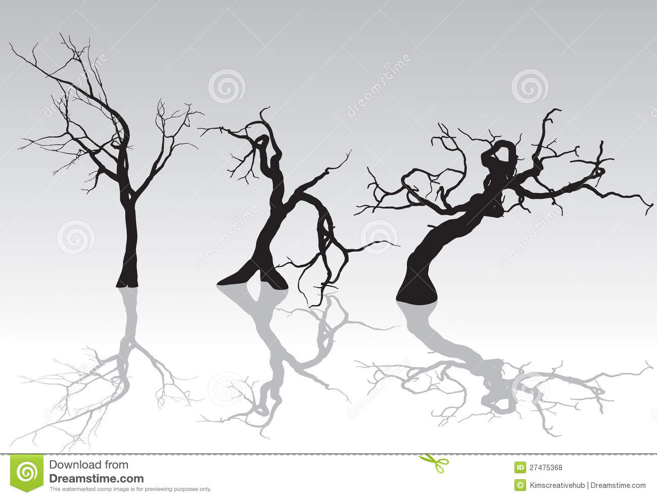 Spooky Winter Trees Royalty Free Stock Photos - Image: 27475368