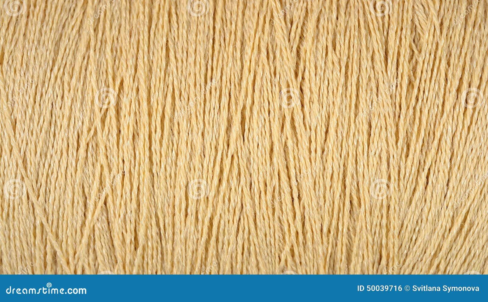 Beige Thread Stock Image