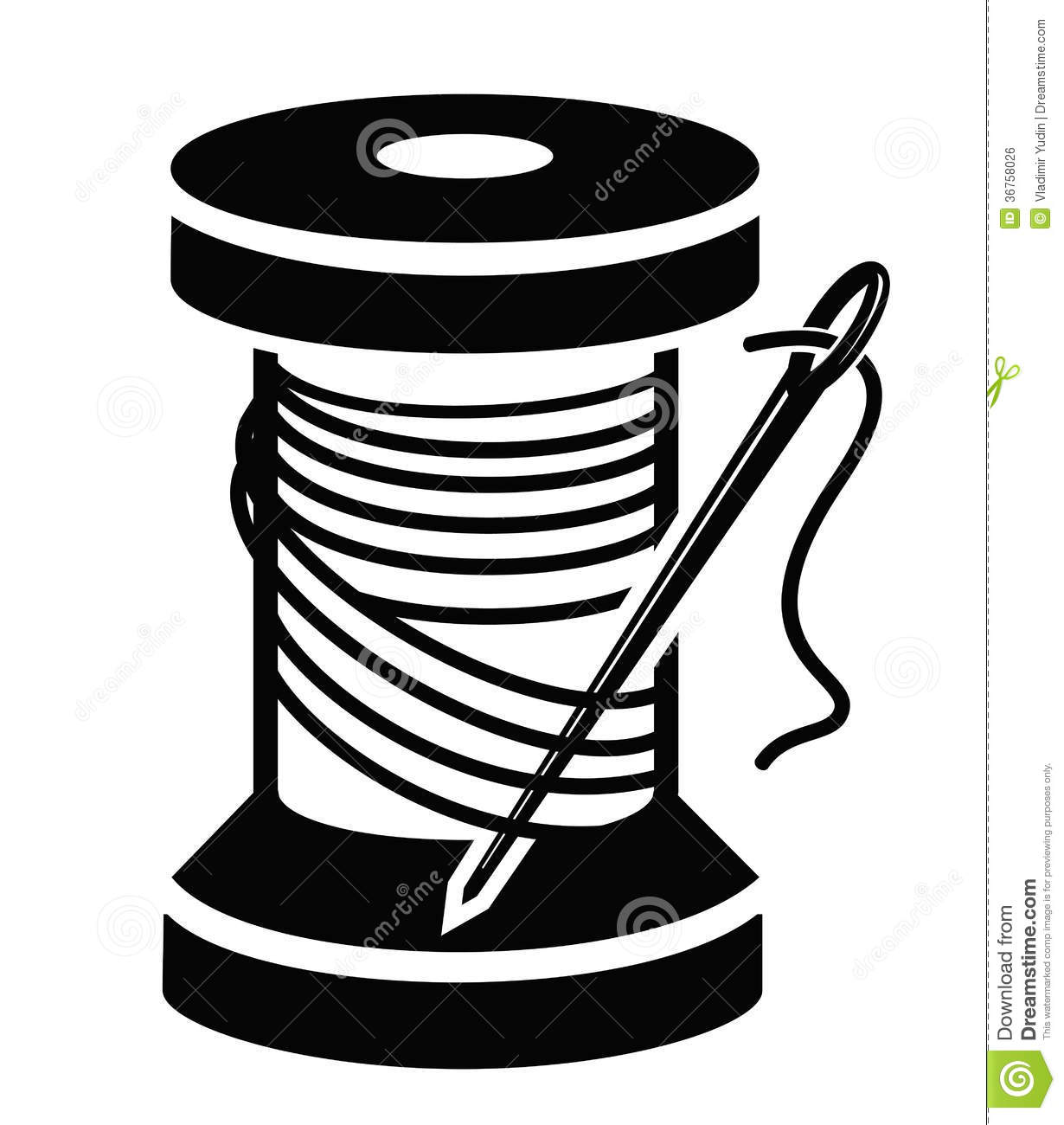 Spool of thread stock vector. Illustration of draw, rope - 36758026