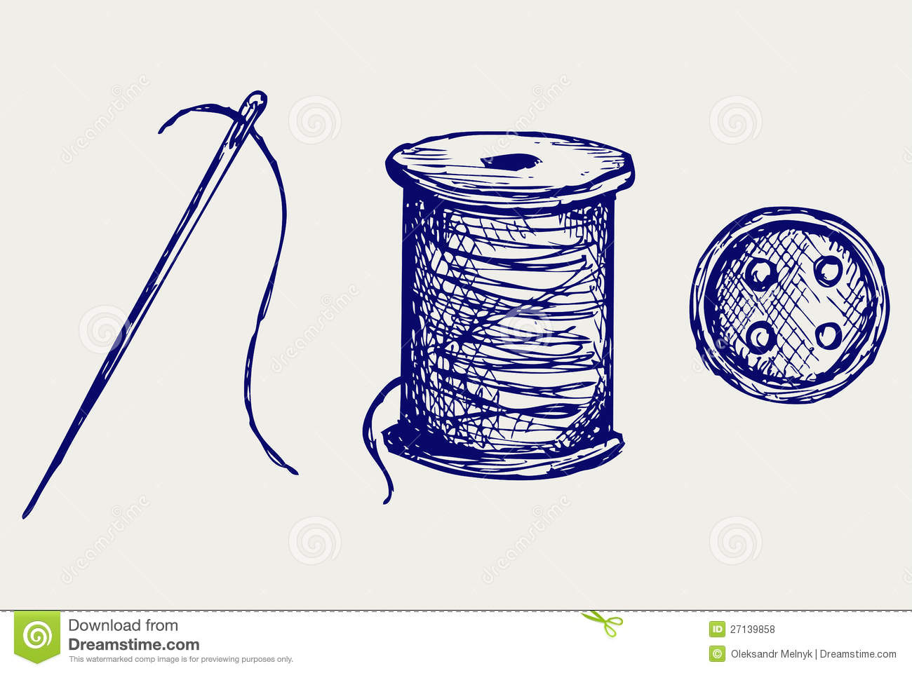 Spool with threads and sewing button stock vector - Dessin machine a coudre ...