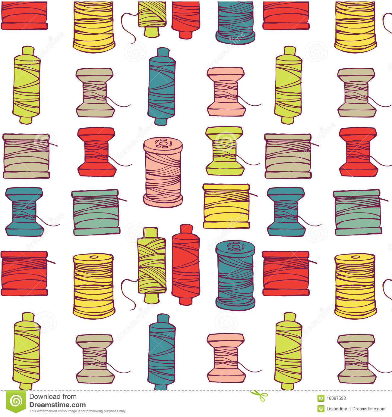 Spools of thread pattern stock photos image 16097533 for Thread pool design pattern