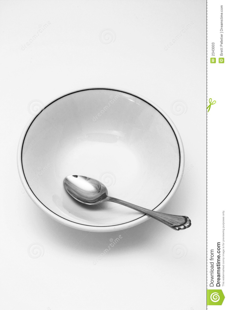 Spoon And Cereal Bowl Empty Stock Photos - Image: 2343003