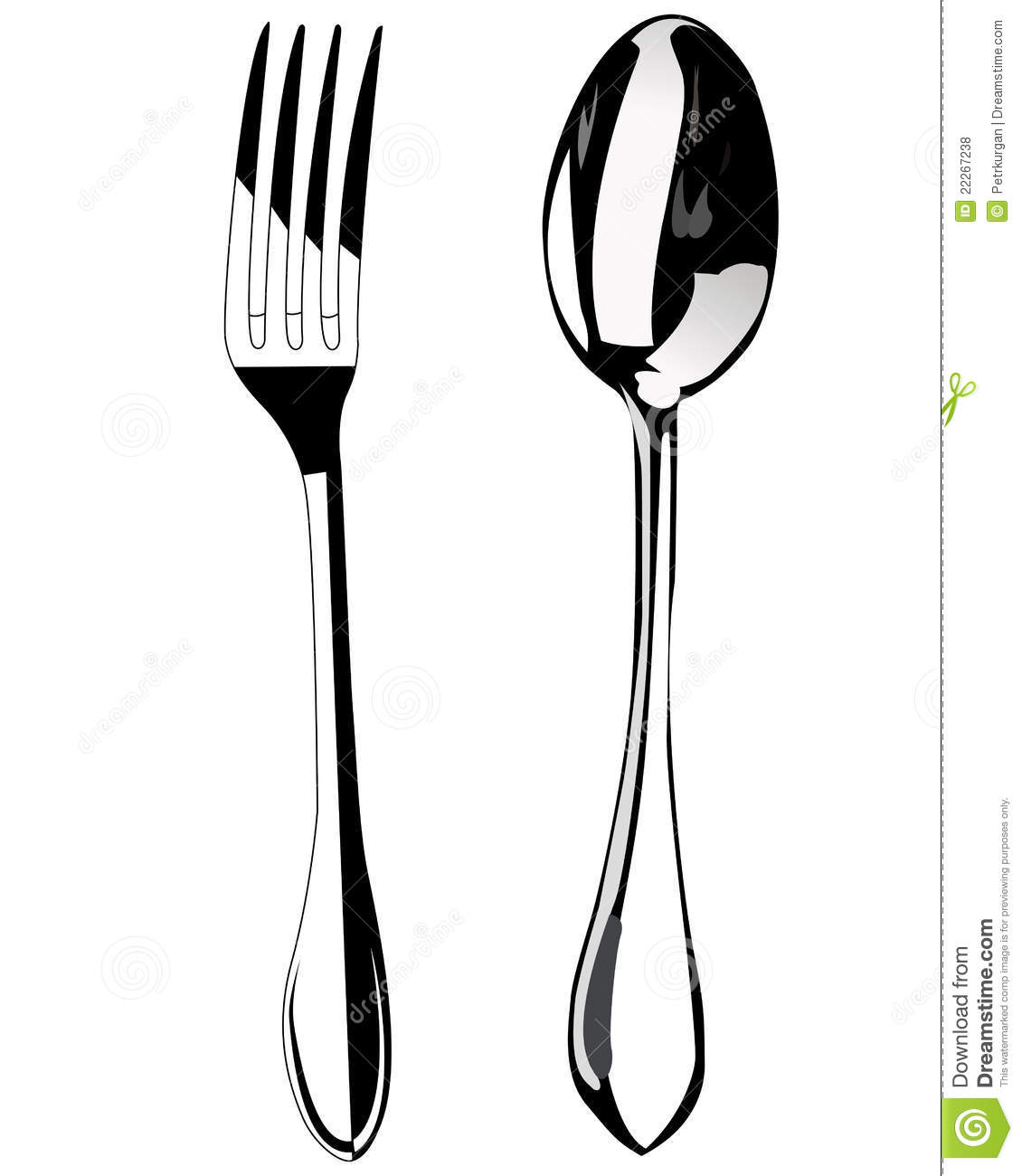 Spoon and fork stock vector. Illustration of restaurant ...