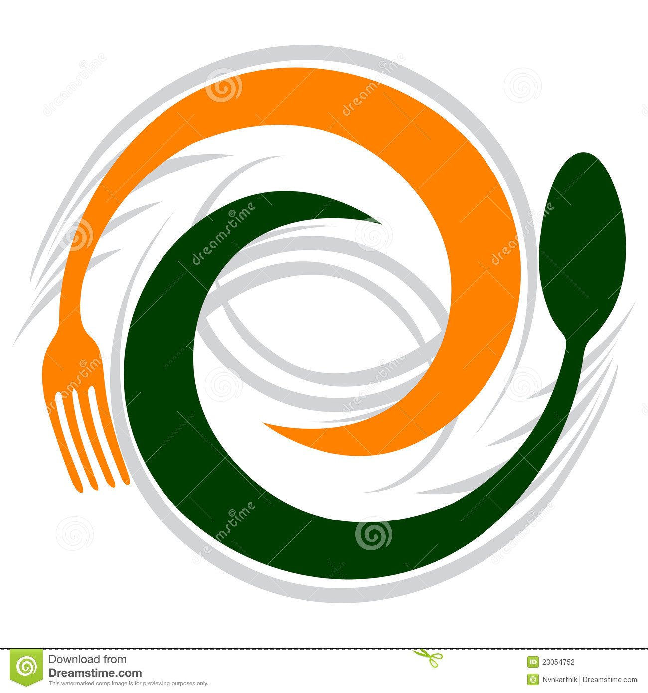 Spoon and fork stock vector. Image of collection, logotype ...