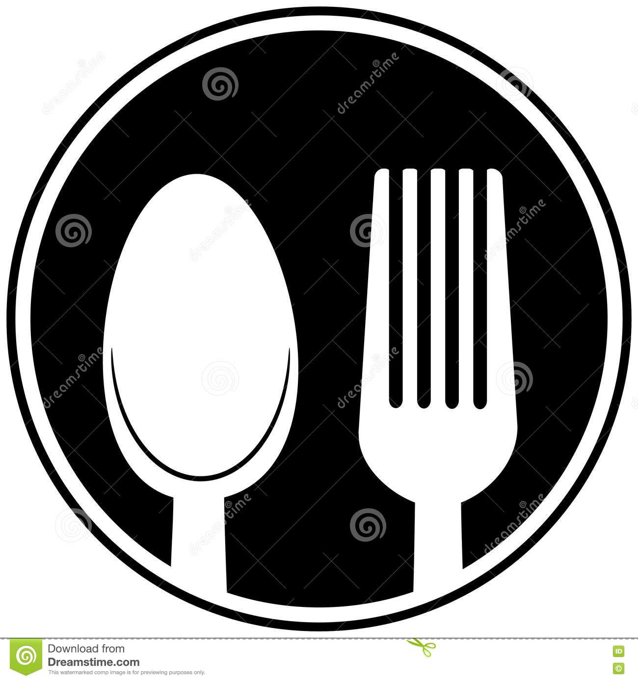 Spoon And Fork Symbol Stock Vector Illustration Of Spoon 72948891