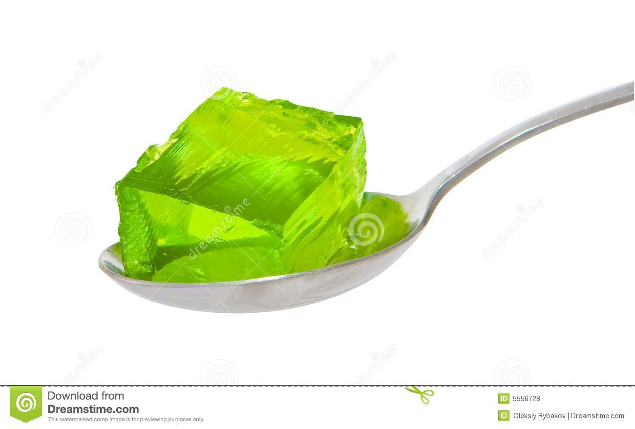 Spoon Of Green Jelly Royalty Free Stock Photos - Image: 5556728