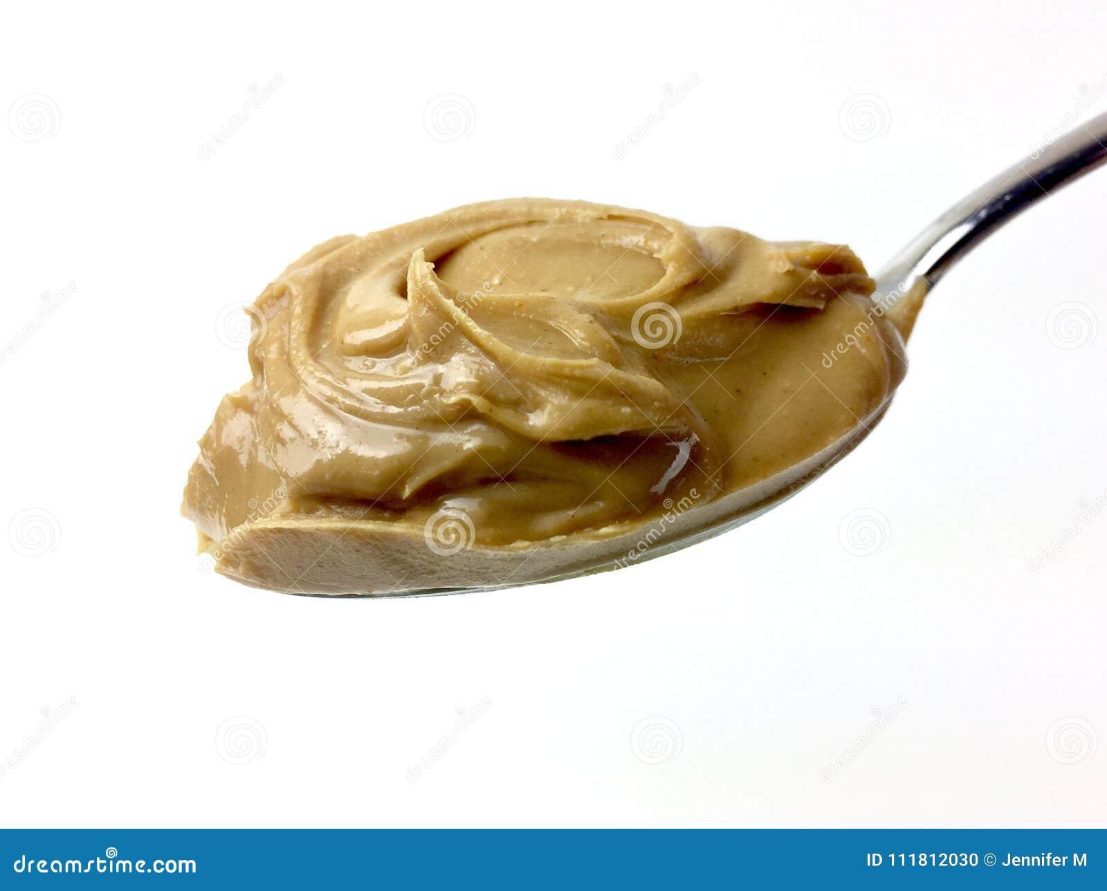 Spoonful of creamy peanut butter
