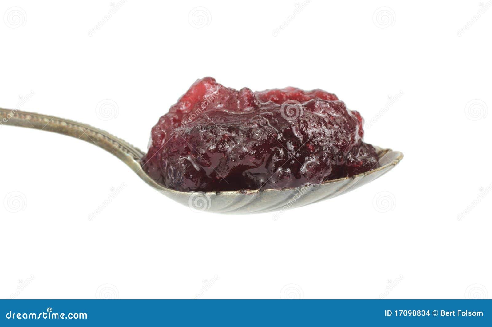 Spoonful vollständige Preiselbeersoße
