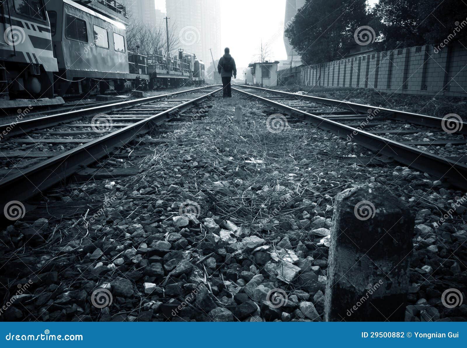 Spoor en voetganger