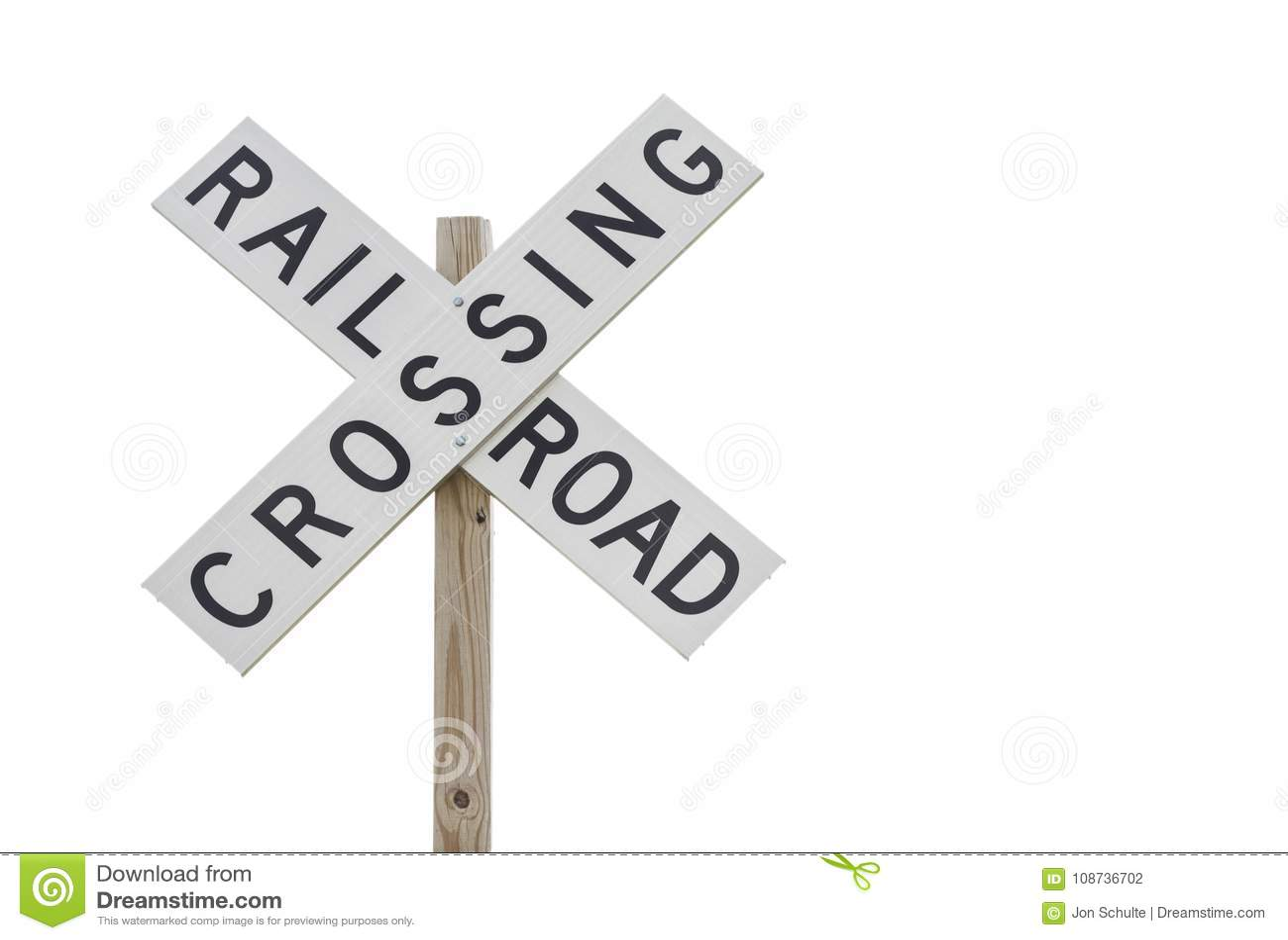 Spoorweg die Teken kruisen