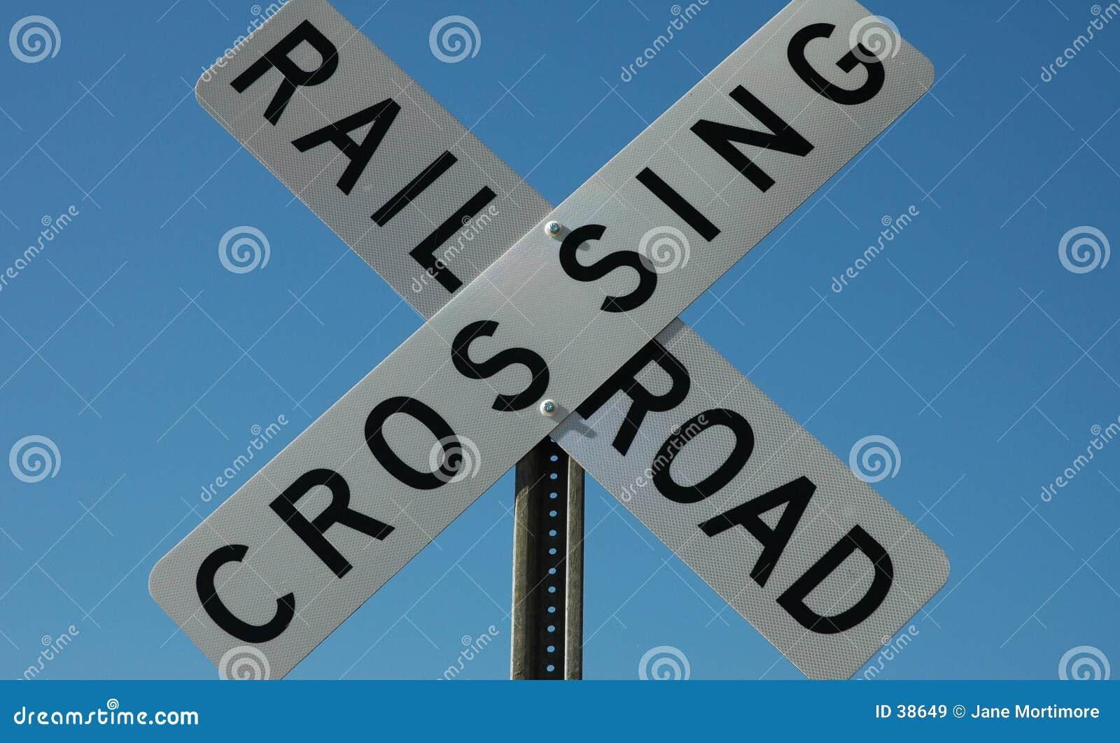 Spoorweg die Teken kruist