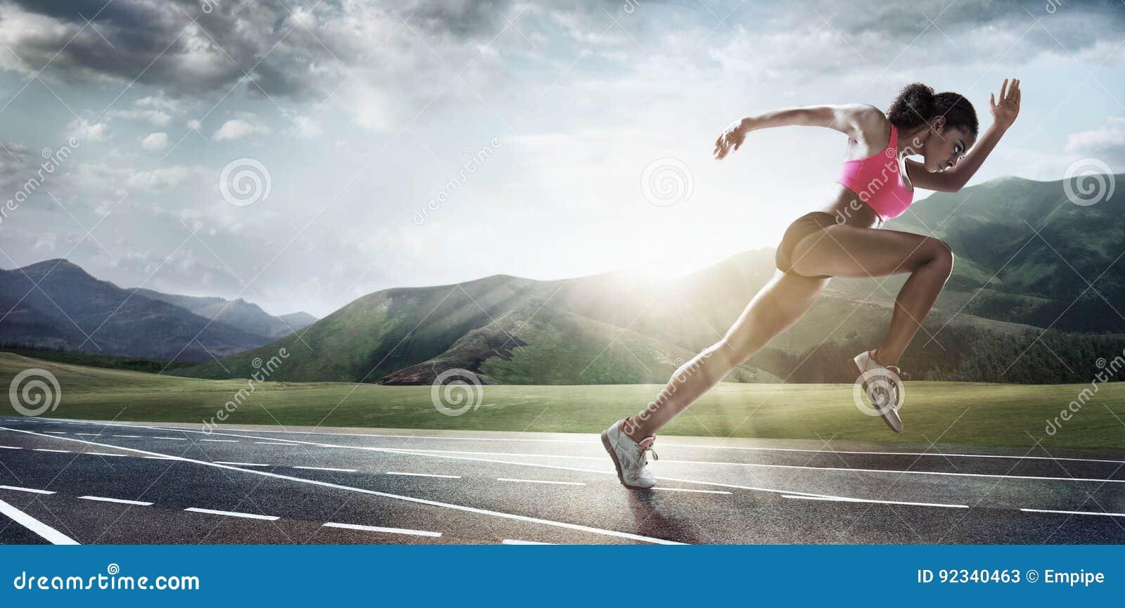 Sportów tła biegacz