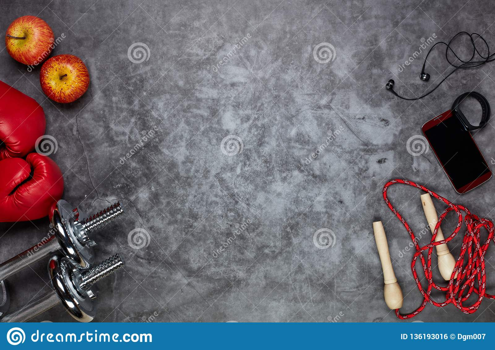 Sport Accessories. Fitness Background Stock Photo - Image of glove, equipment: 136193016