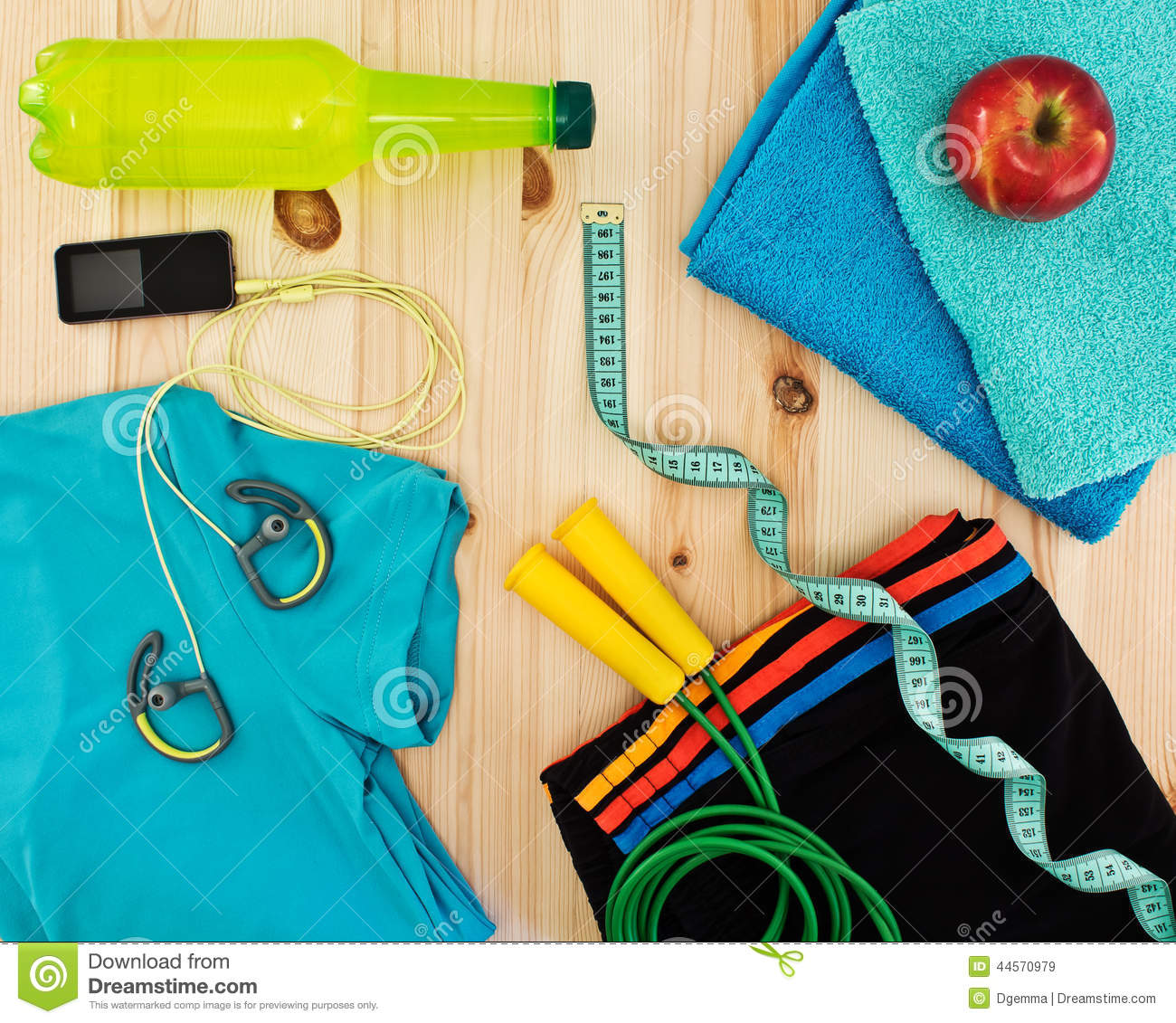 Sport accessories for fitness classes