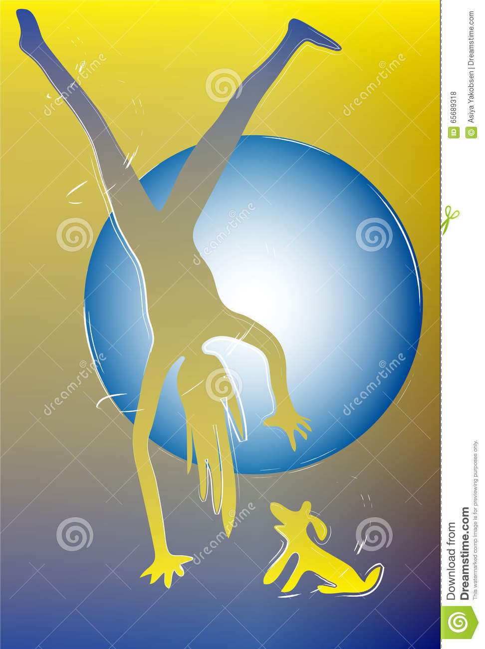 Sport As A Way Of Life. Strong Body. Light Soul Stock Illustration - Illustration of light, confident: 65689318