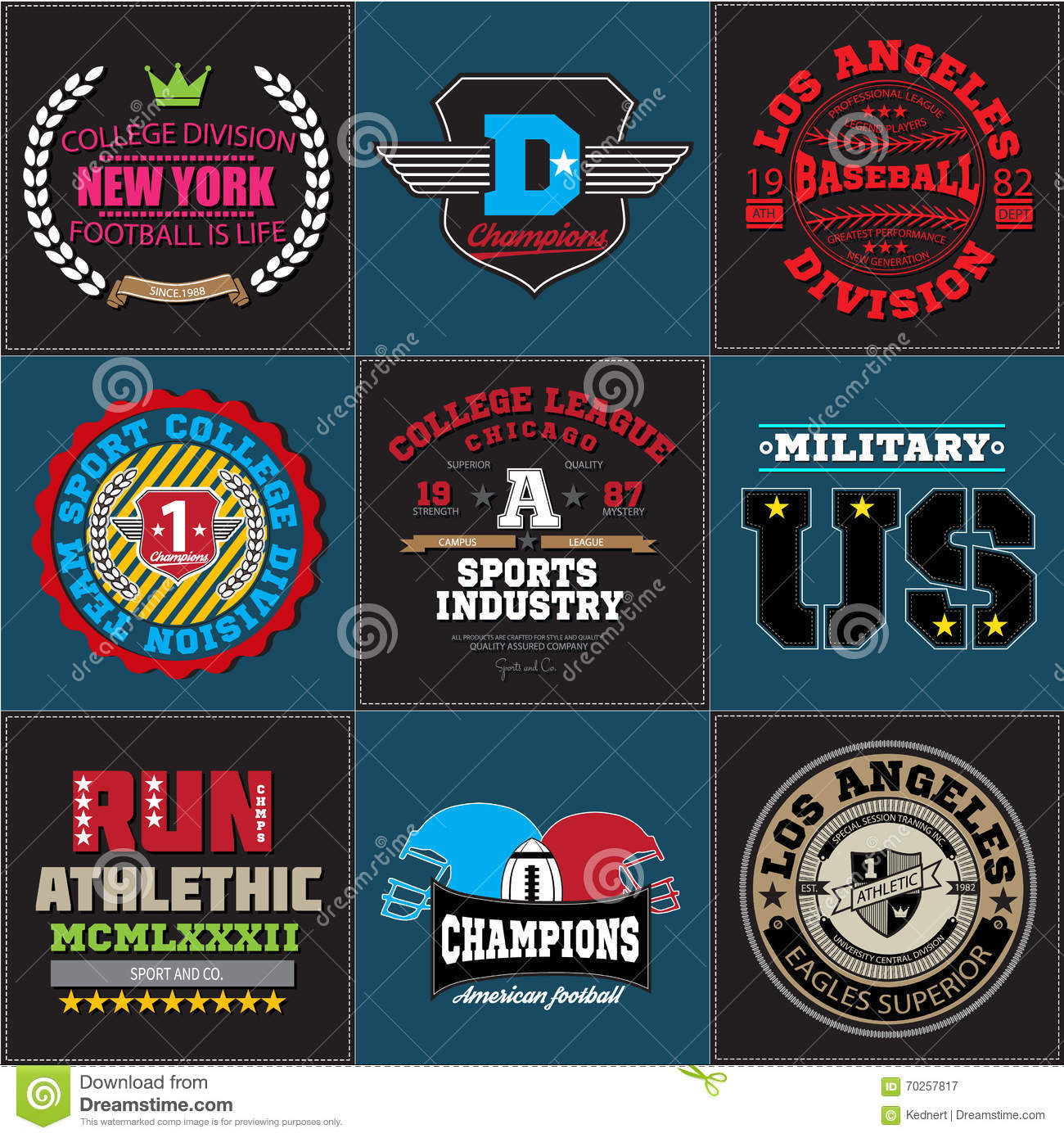 Sport Athletic College Baseball Football Logo Emblem Collection