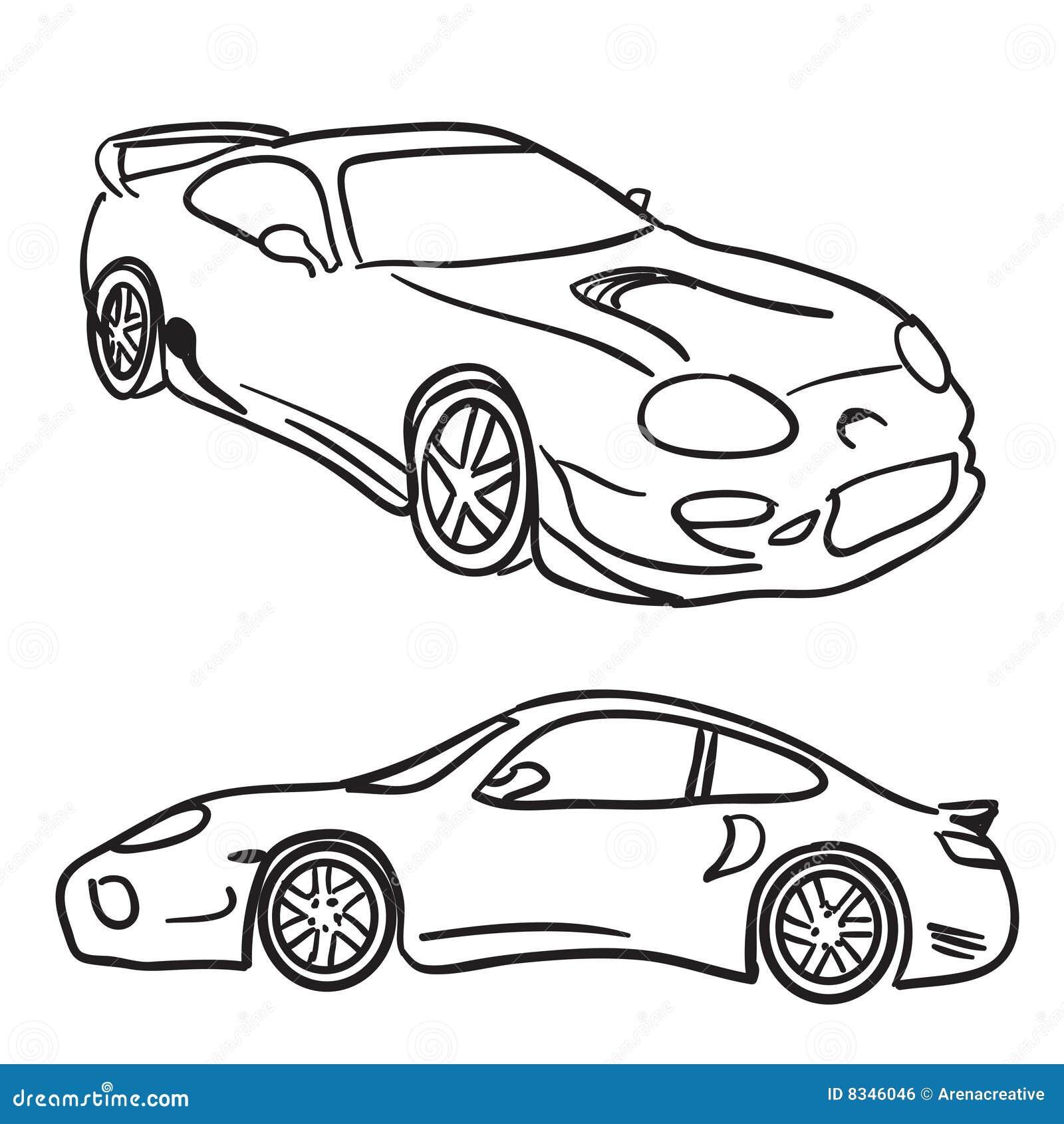 sportautoskizzen vektor abbildung illustration von
