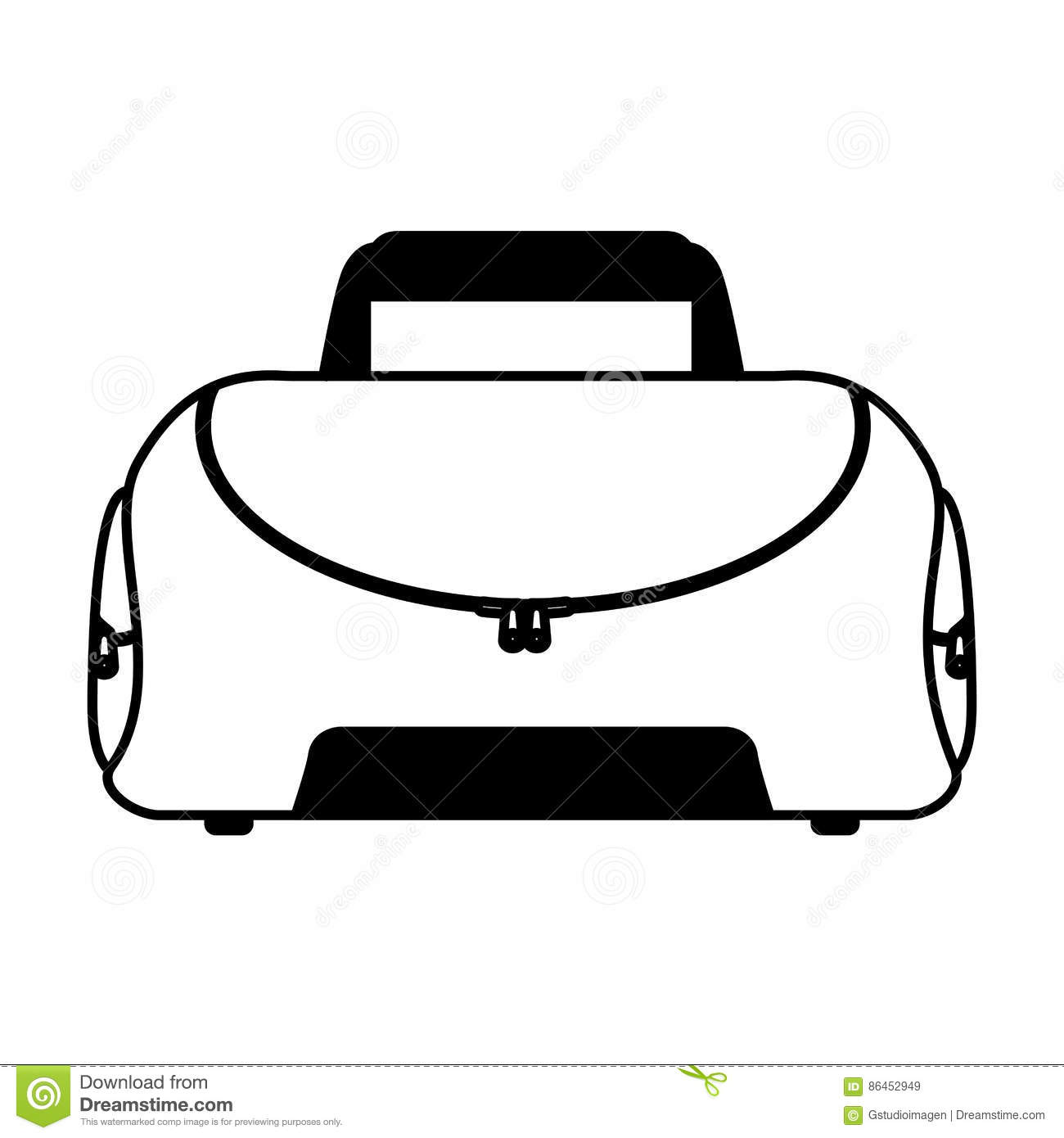 9b9f533c92 Sport Bag Gym Isolated Icon Stock Vector - Illustration of object ...