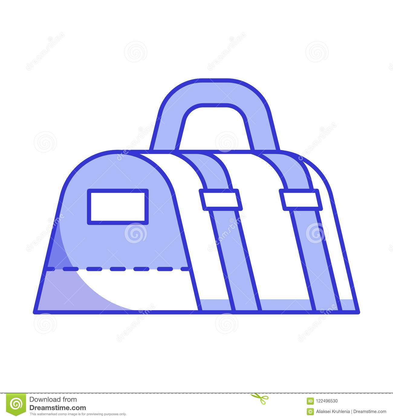 Gym bag for sport and fitness. Vector icon in line art. More similar stock  illustrations db12b6ac63e84