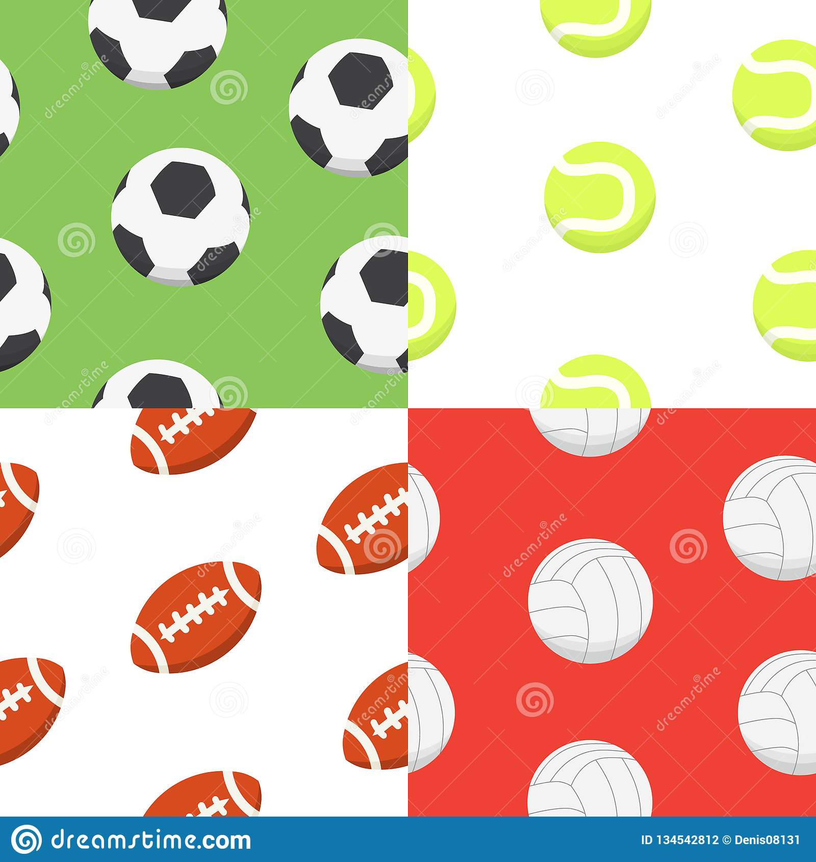 fe7a23f3f504b7 Sport ball pattern. Vector seamless background. Sporting equipment pattern.