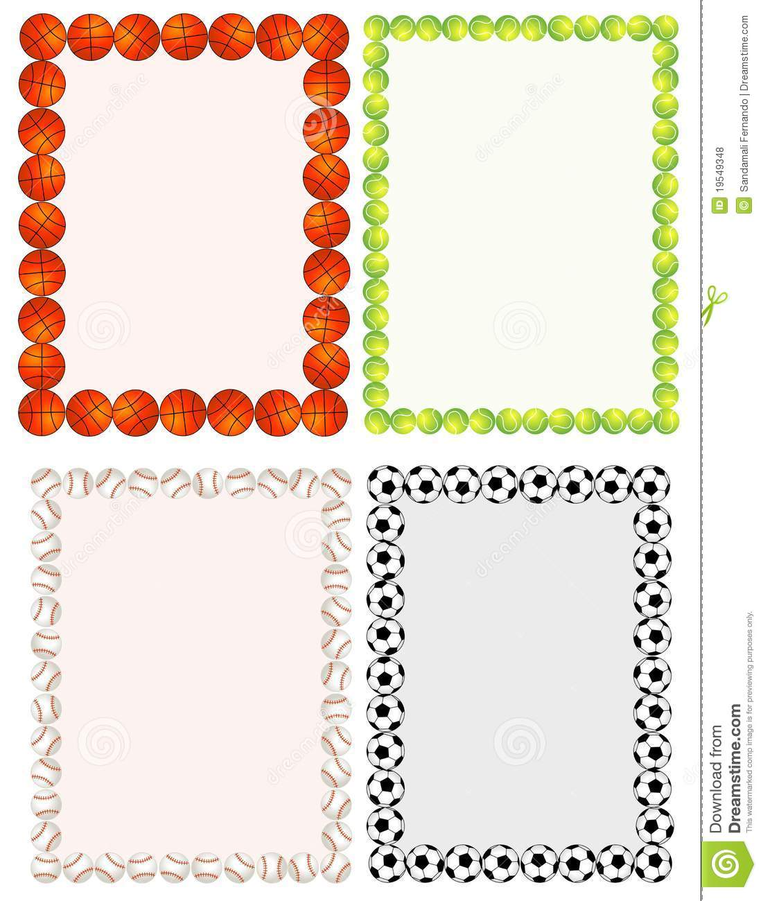 sport balls stock vector image of invitation  balls 19549348 dodgeball clipart images Dodgeball Tournament Clip Art