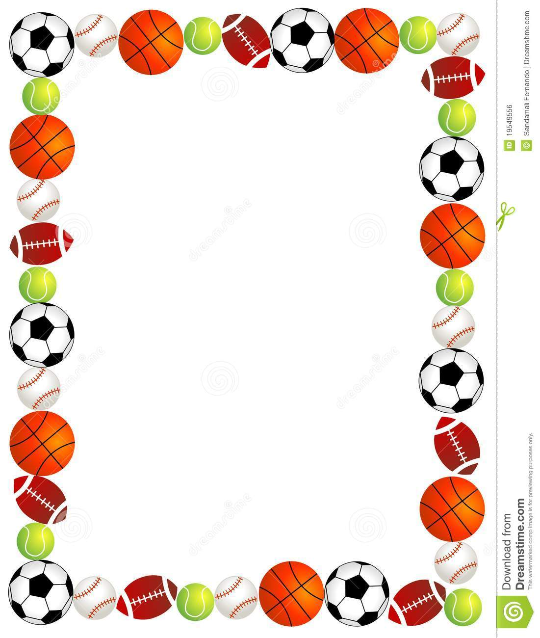Sport balls stock vector. Illustration of border, abstract - 19549556