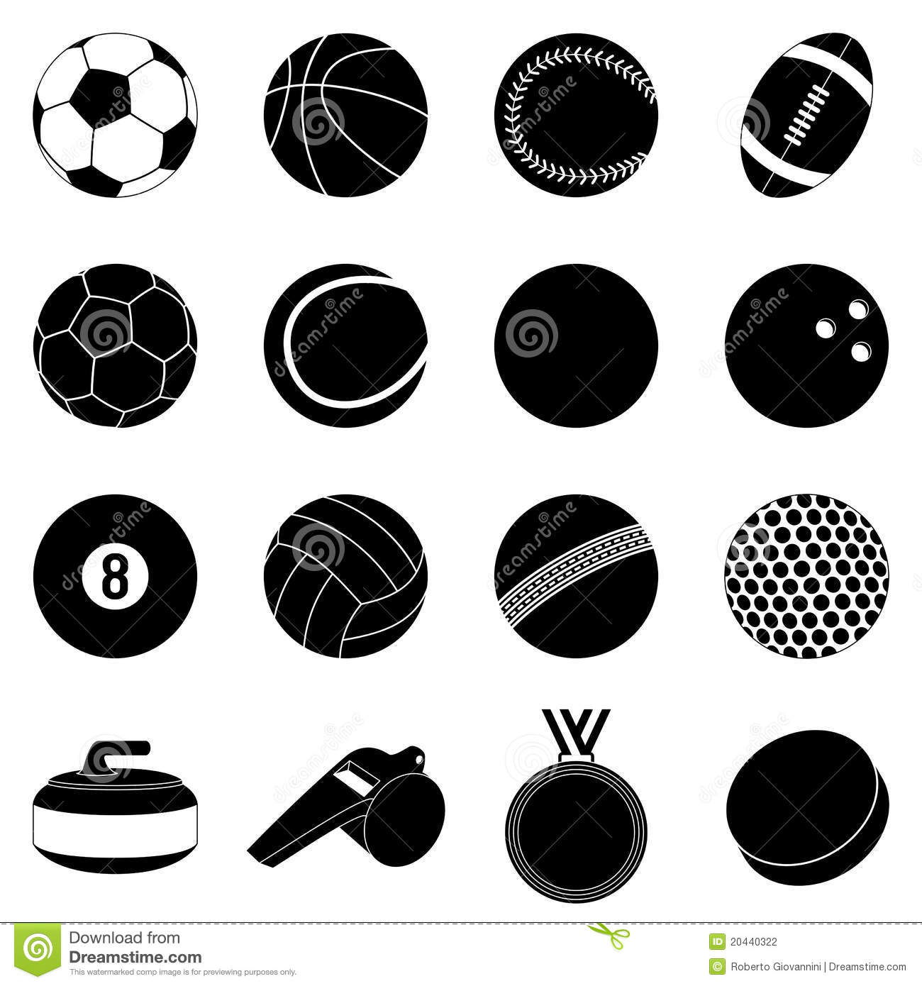 balls sport silhouettes cricket background vector silhouette ball sports preview dreamstime