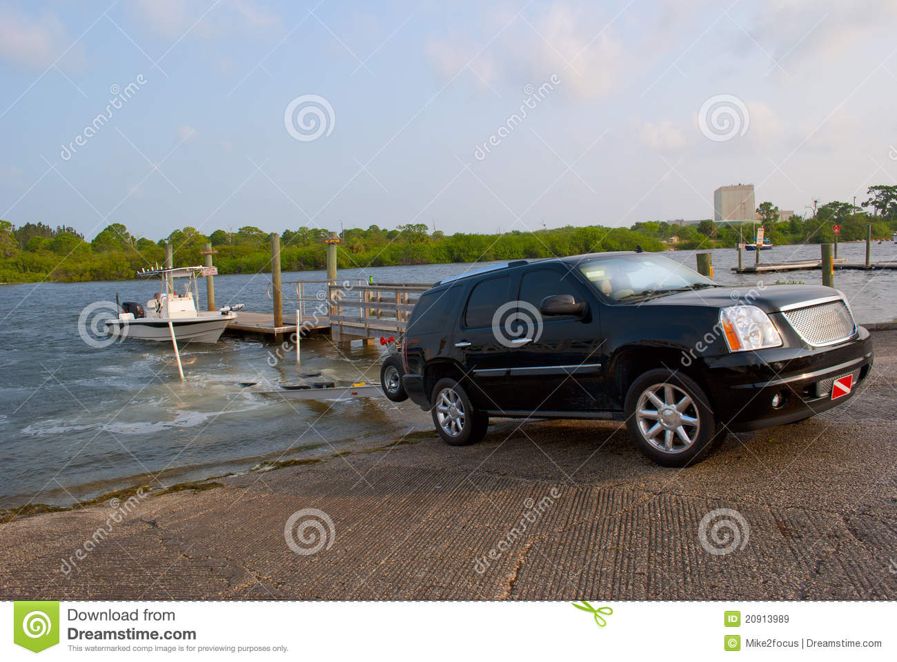 Truck Launching Fishing Boat At Ramp Royalty Free Stock Images - Image ...