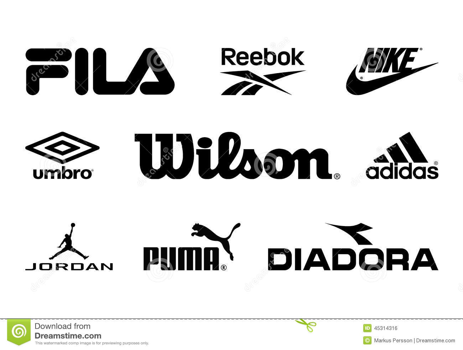 Sport brands editorial photo image 45314316