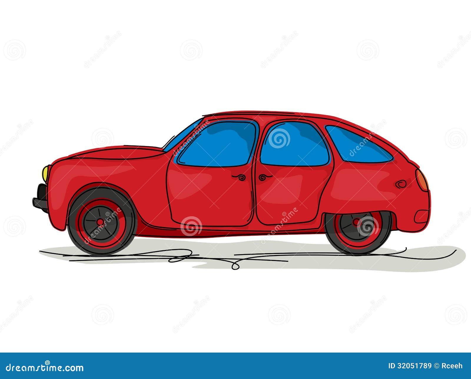 Sport Car Cartoon Stock Vector. Image Of Bumper Illustration - 32051789