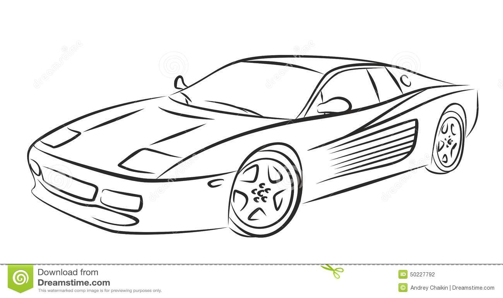 Sport car stock vect