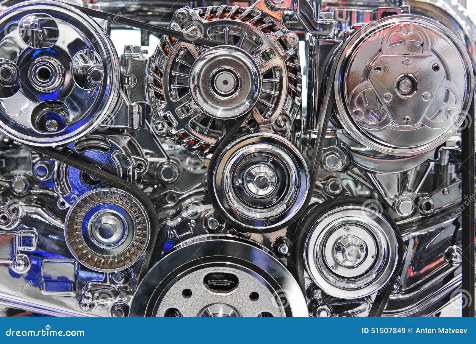 Sports Car Engine Parts : Sport car engine stock photo image