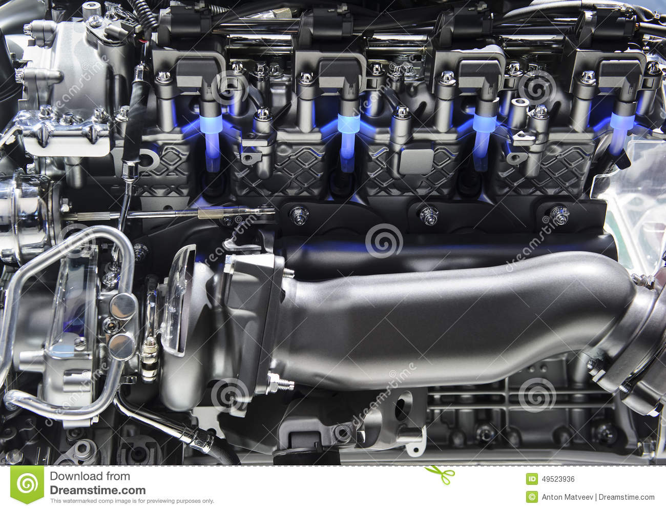 Sport Car Engine Stock Photo Image Of Mechanic Clean 49523936