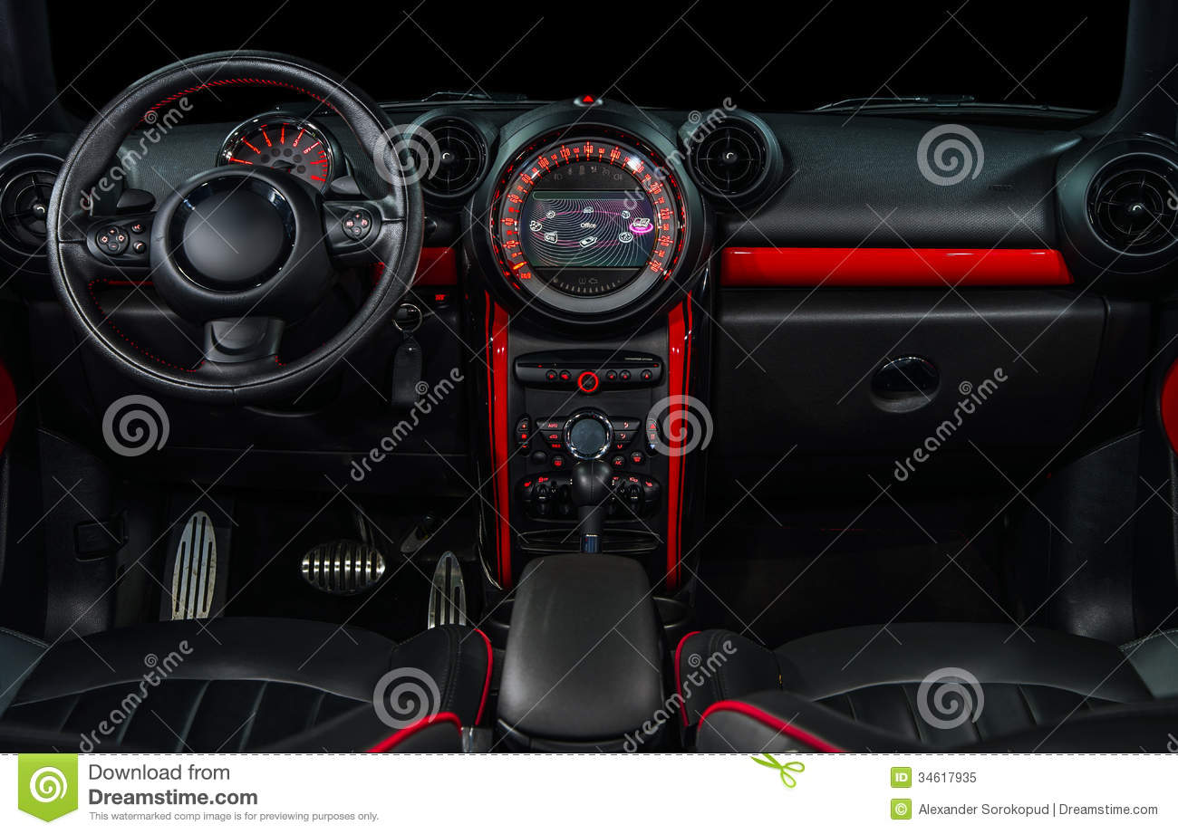 sport car interior stock image image of helm automobile 34617935. Black Bedroom Furniture Sets. Home Design Ideas