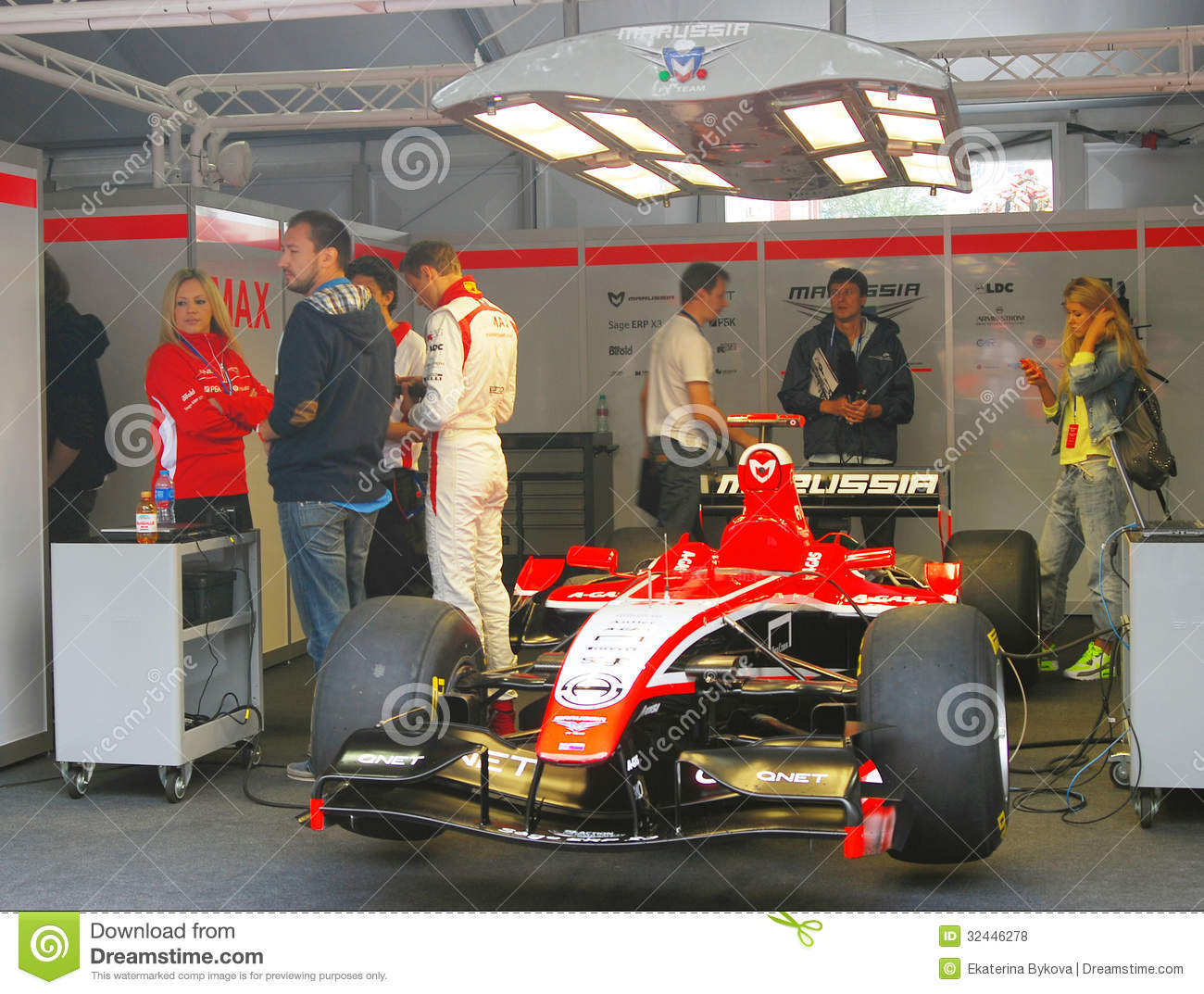 a sport car of marussia f1 team editorial stock photo image 32446278. Black Bedroom Furniture Sets. Home Design Ideas